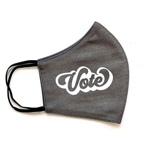 Reusable Cotton Vote Face Mask Adult - Pick Your Favorite
