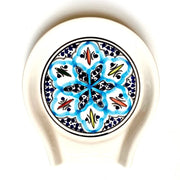 Rosette Hand-painted Ceramic Spoon Rest