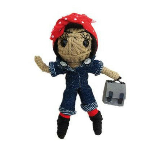 Kamibashi String Doll Keychain - Rosie the Riveter