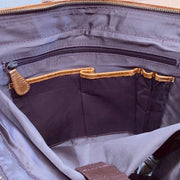 15-inch Leather Laptop Briefcase Messenger Bag interior