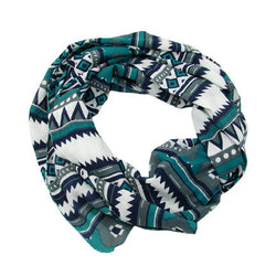 Tribal Geo Screen Printed Cotton Scarf