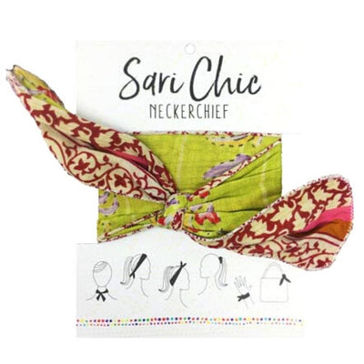 Repurposed Sari Chic Neckerchief packaging