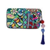 Handmade and Fair Trade Kutch Embroidered Zip-Around Wallet