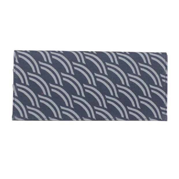 Screen Print Long Wallet - Grey Crescent