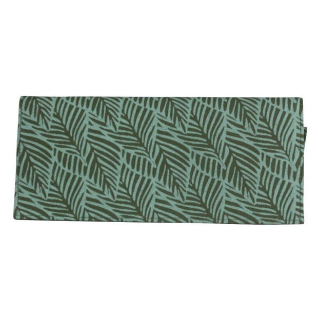 Screen Print Long Wallet - Turquoise Leaf