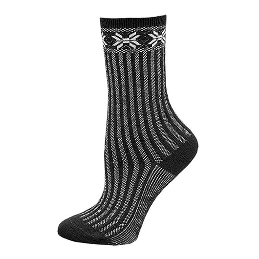 Organic Wool Sweater Sock - Black by Maggies Organics