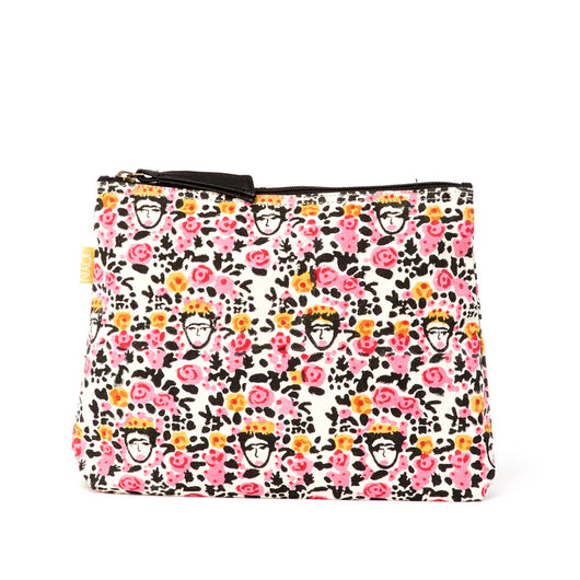 Shweta Printed Cotton Vegan Large Pouch - Spanish Floral