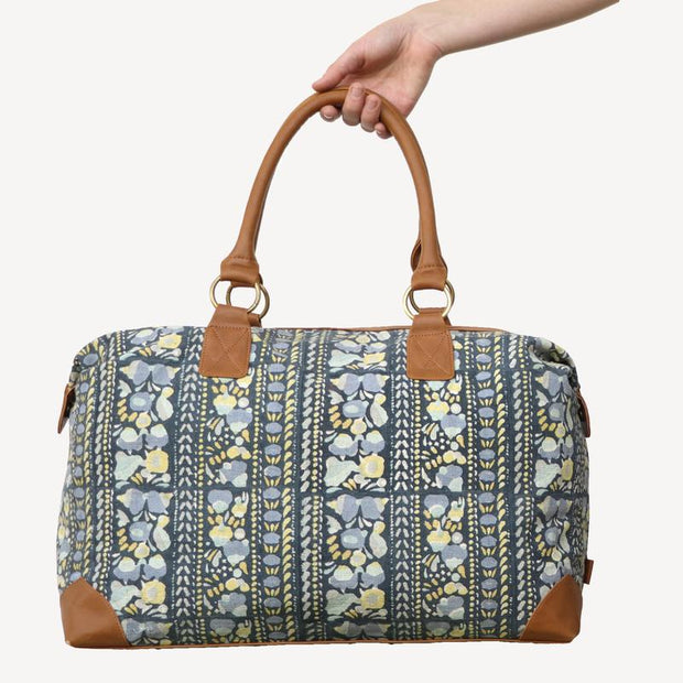 Malti Vegan Weekender Bag - Indigo Panel lifestyle