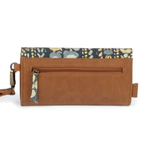 JOYN Foldover Vegan Wristlet Wallet - Autumn Shadow backview
