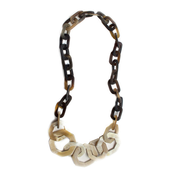 Saigon Bullhorn Chain Statement Necklace
