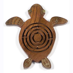 Sea turtle Wooden Maze Game