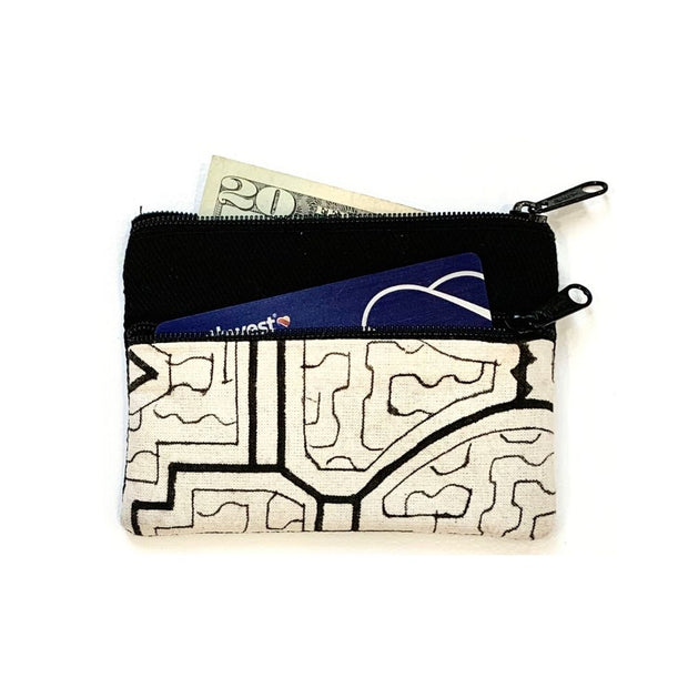 Shipibo Coin Purse White and Black