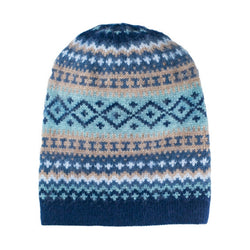 Sierra Knit Alpaca Blend Reversible Hat NAVY