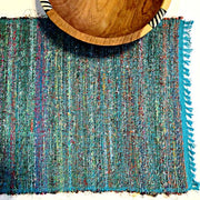 Recycled Silk Sari Placemat - Turquoise