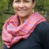 Fair Trade Recycled Silk Sari Infinity Scarf