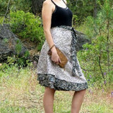 Reversible Recycled Silk Wrap Skirt