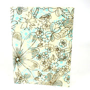 Sky Blue Floral Soft Cover Journal with tree-free paper