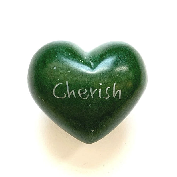 Small Word Soapstone Heart - Cherish