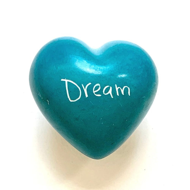 Small Word Soapstone Heart - Dream