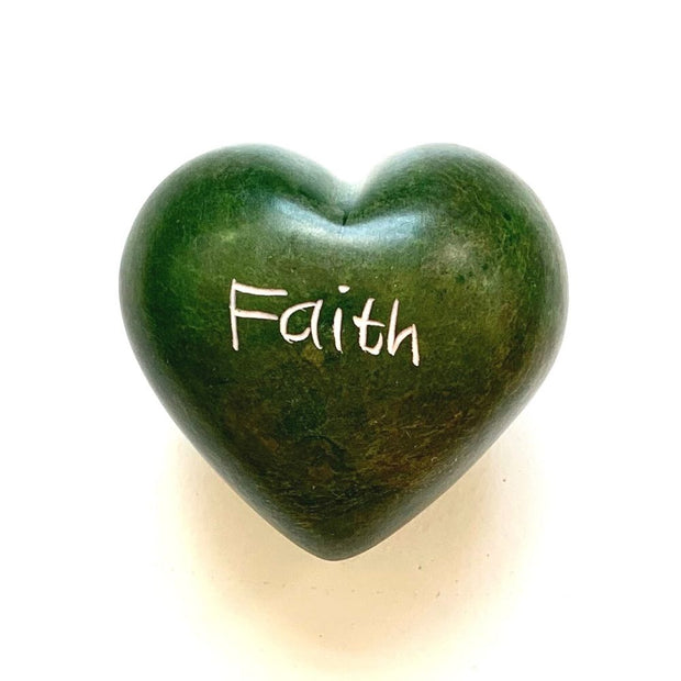 Small Word Soapstone Heart - Faith