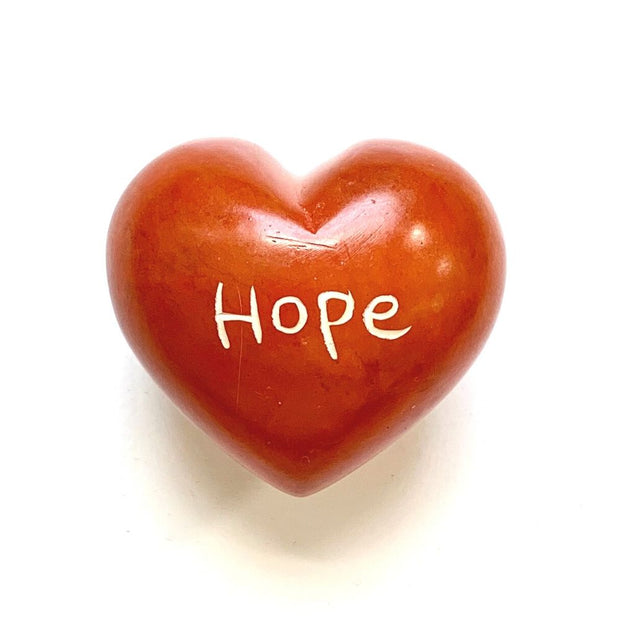 Small Word Soapstone Heart - Hope