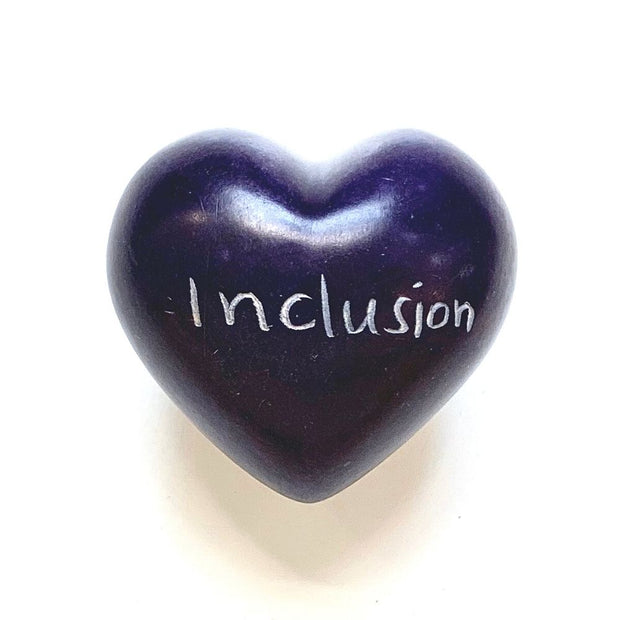 Small Word Soapstone Heart - Inclusion