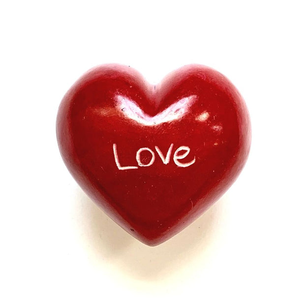 Small Word Soapstone Heart - Love