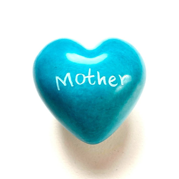 Small Word Soapstone Heart - Mother
