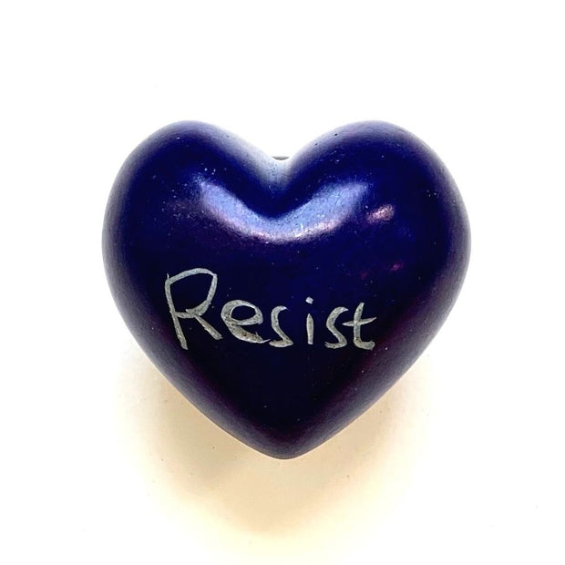 Small Word Soapstone Heart - Persist-Resist