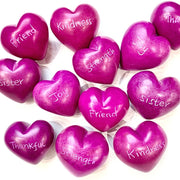 Small Word Soapstone Heart - Pink Collection Group