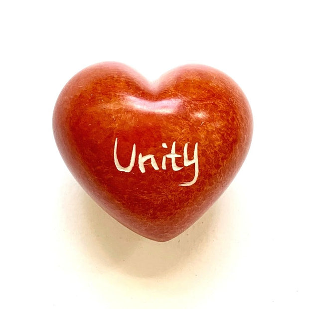 Small Word Soapstone Heart - Unity