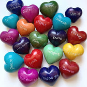 Small Word Soapstone Heart - group