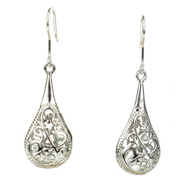 Fair Trade Filigree Teardrop Earrings by Starfish Project