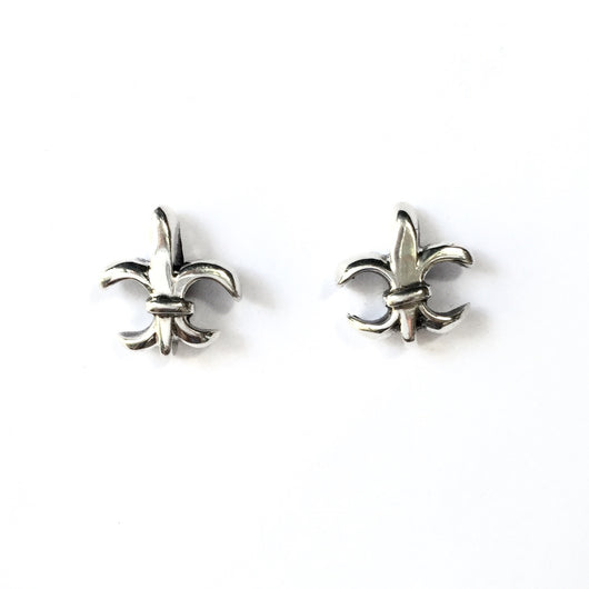 Fair Trade Fleur-de-Lis Stud Earrings in Sterling Silver
