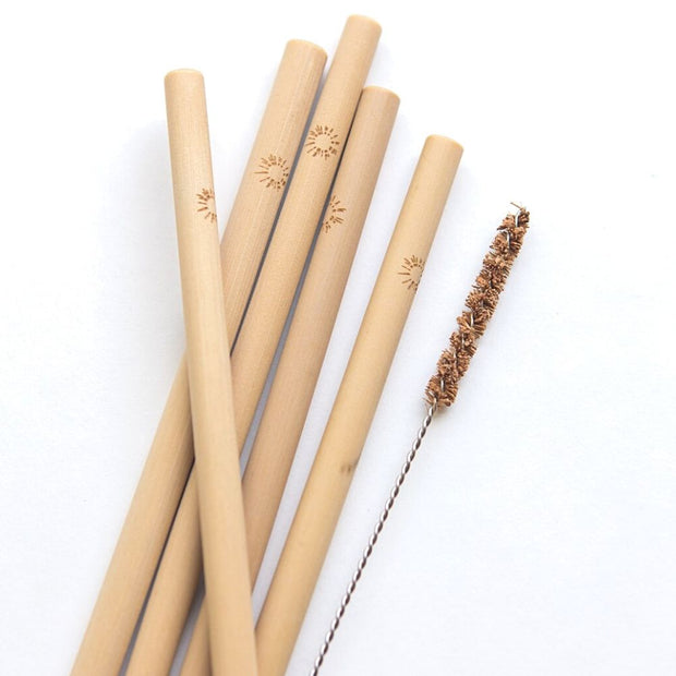 Sustainable Bamboo Straw Set detail