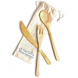 Sustainable Bamboo Utensil Cutlery Set