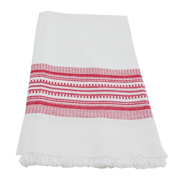Cotton Kitchen Towel - Red Stripe