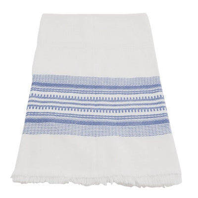Hand-woven Cotton Kitchen Towel - Blue Stripe