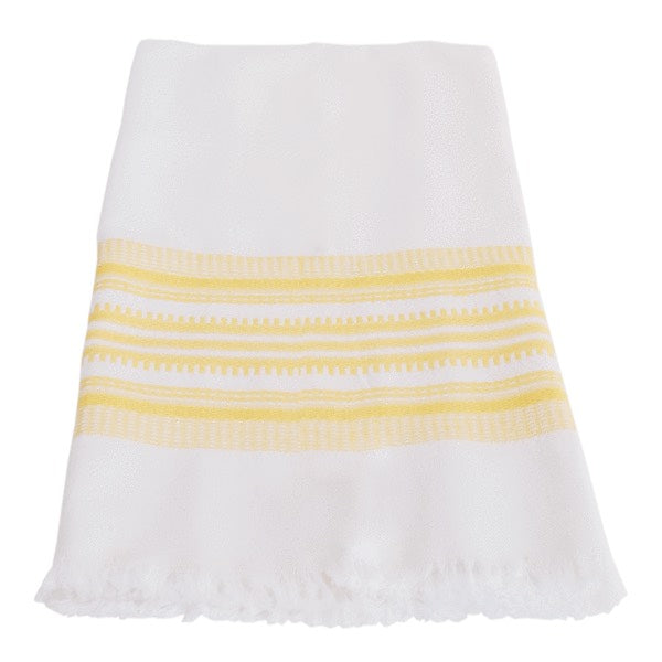 Hand-woven Cotton Kitchen Towel - Yellow Stripe