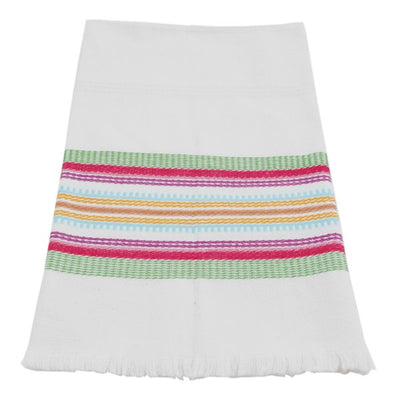 Hand-woven Cotton Kitchen Towel - Multicolor stripe