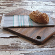 Cotton Kitchen Towel - Chambray Slate and Teal Stripes lifestyle