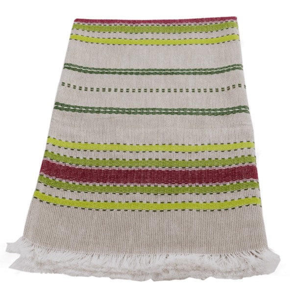 Hand-woven Cotton Kitchen Towel - Coffee Plant Multi Stripe