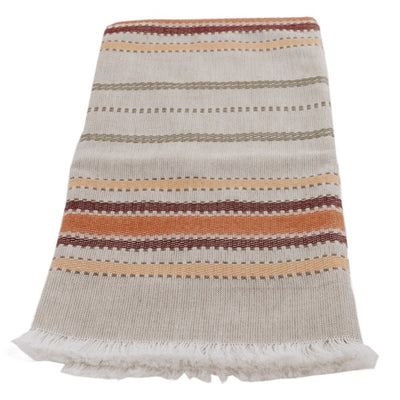 Hand-woven Cotton Kitchen Towel - Cappucccino Multi Stripe