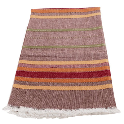 Cotton Kitchen Towel - Mocha Multi Stripe