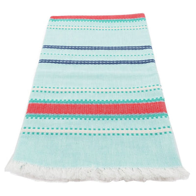 Cotton Kitchen Towel - Cottage Aqua