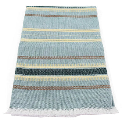 Cotton Kitchen Towel - Sand and Sea Green