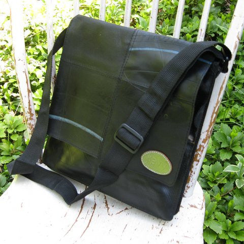 Recycled Rubber Tire Tube Sling Bag