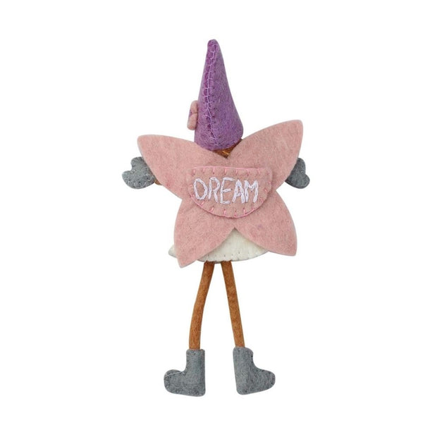 Felted Tooth Fairy with Hat Doll - Two Colors