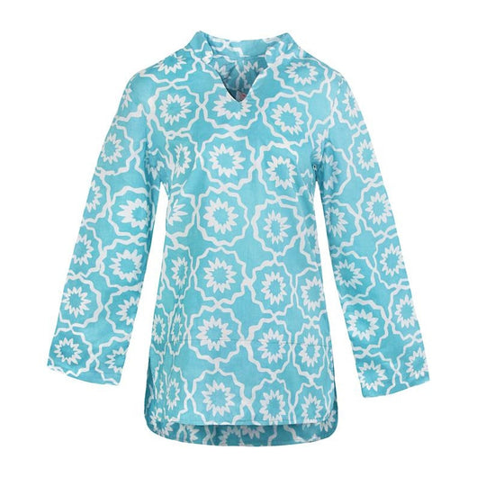 Global Mamas Traveler Tunic - Chroma Sky Blue