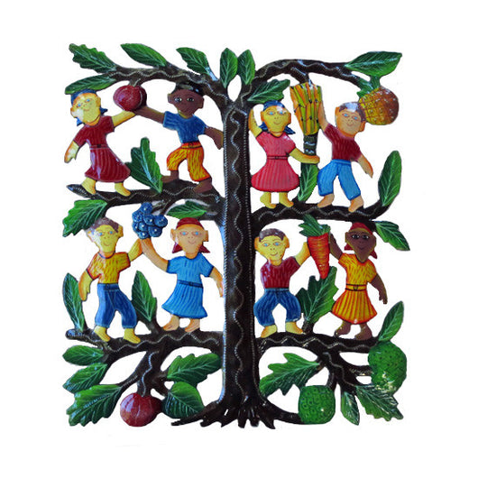 Painted Metal Tree of Plenty Wall Art